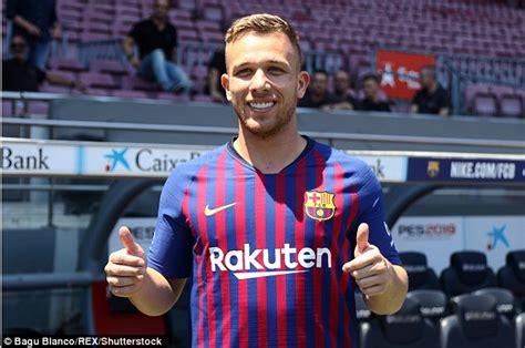 Barcelona unveil new £27.5m signing Arthur at Nou Camp ...