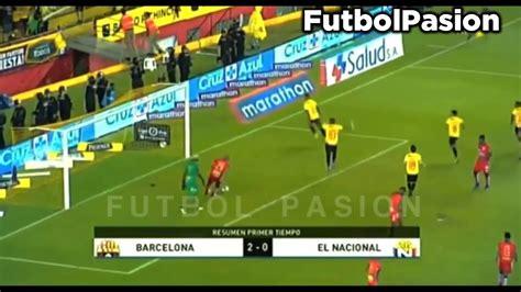 Barcelona vs El Nacional 5 2 || Resumen y Goles|| Liga Pro ...