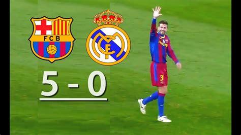 Barcelona vs Real Madrid  5 0    YouTube
