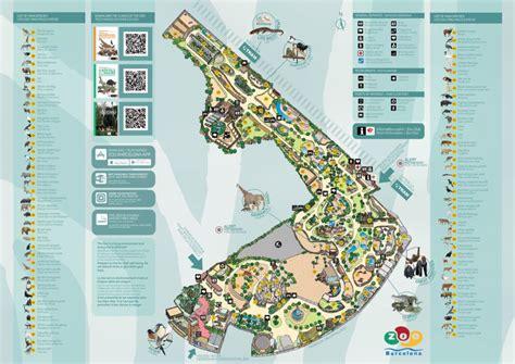 Barcelona Zoo Map   Barcelona Zoo Map