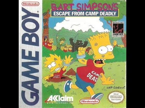 Bart Simpson s Escape from Camp Deadly  Nintendo Game Boy ...