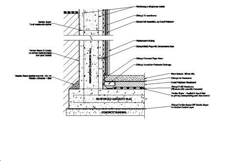 Basement waterproofing in AutoCAD   Download CAD free  51 ...