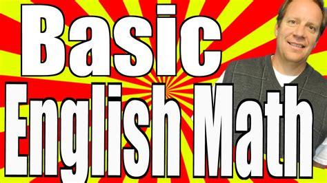 Basic English Math Vocabulary and a Calculator   YouTube