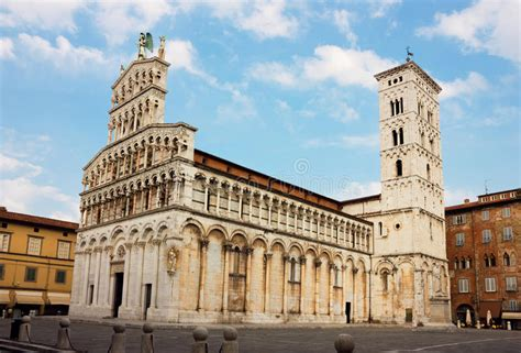 Basilica San Michele In Foro In Lucca, Italy Stock Photo ...