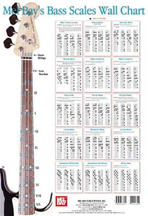 Bass Scales Wall Chart and more Bass Guitar Method ...