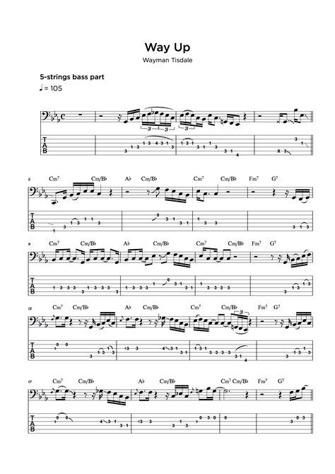Bass Tab Transcription Service • My Sheet Music Transcriptions