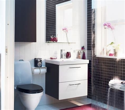 #Bathroom : Black And White Small Small Space# IKEA ...