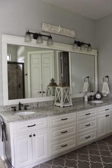 Bathroom mirror, Colonial White Granite, White Dove ...