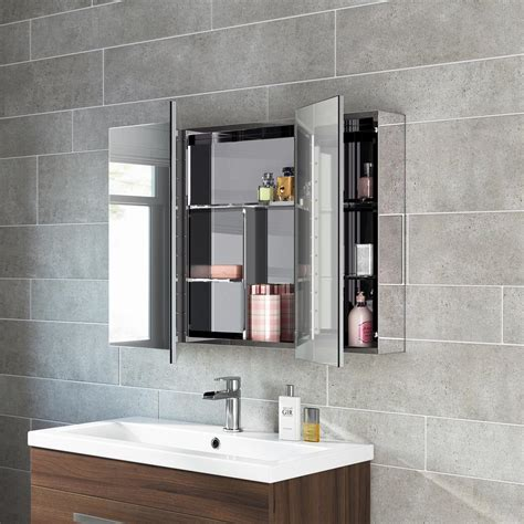 Bathroom Mirror Storage Unit Wall Mirrored Cabinet MC111 ...