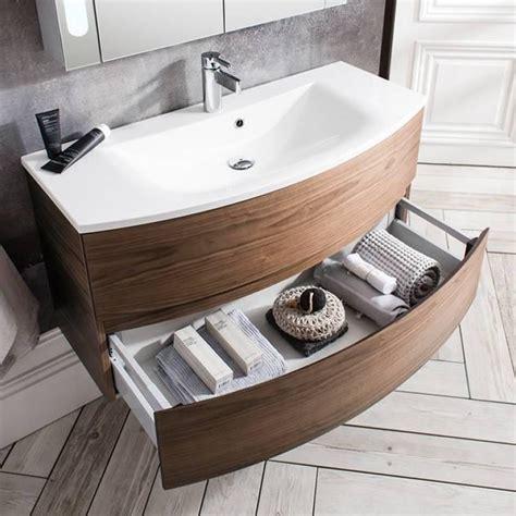 Bauhaus Svelte American Walnut 100 Vanity Unit & Basin ...