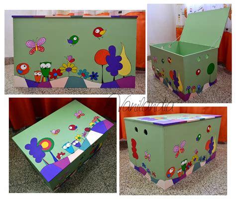 baúl de madera pintado para guardar juguetes. medidas ...