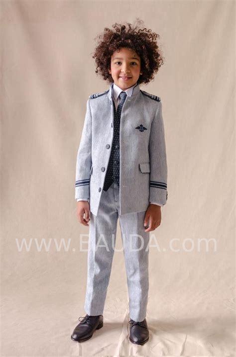 Baunda Traje almirante con chaleco en tono celeste ...