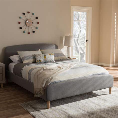 Baxton Studio Mia Mid Century Gray Fabric Upholstered ...