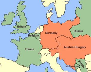 BBC   History   World Wars: Animated Map: The Western ...