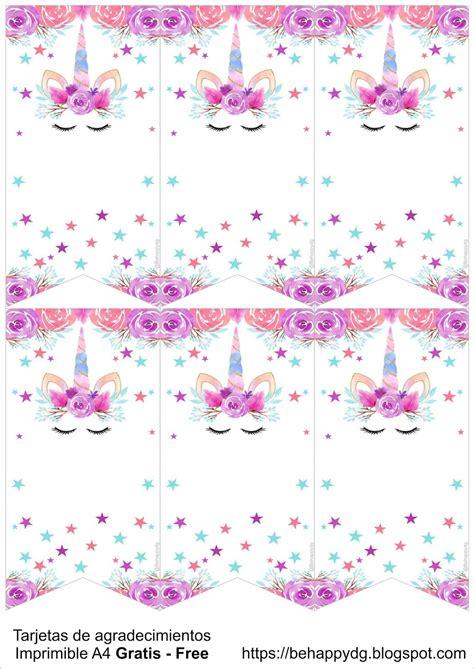 Be happy: Kit imprimible Unicornio Gratis | Cumpleaños ...