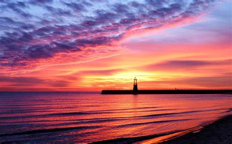 Beach Sunset Landscape | HD Wallpapers Pulse | Sunset ...