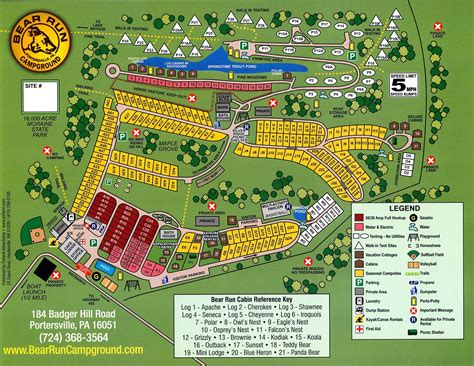Bear Run Campground Map   Campsites and Amenities