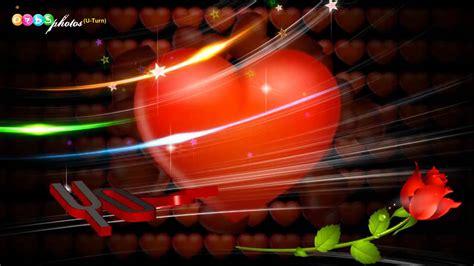 Beautiful 3d Hearts Animation Love Greeting HD   YouTube