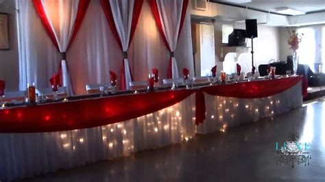 Beautiful Orange, White, Brown and Red Wedding Decor by ...