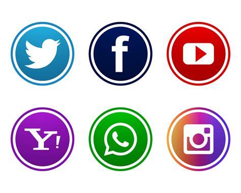 Beautiful social media icons set design   Download Free ...