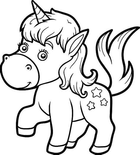 Bebé Unicornio Para Colorear Página Vectores Libres de ...