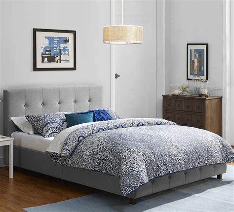 Bed Frame Full Size Platform Upholstered Bedroom Furniture ...