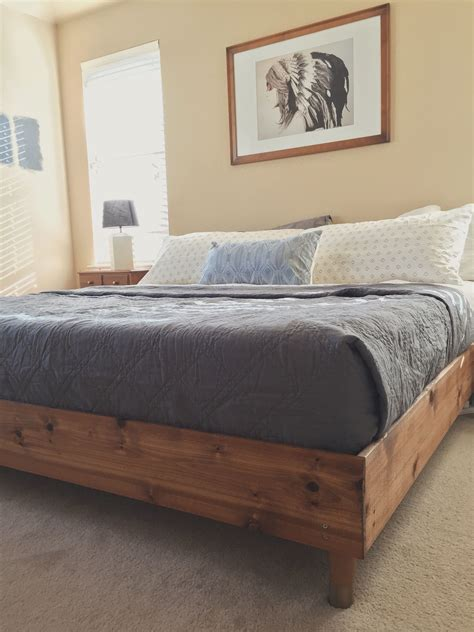 Bedroom Update: King Bed DIY | Wood Stuff | Diy bed frame ...