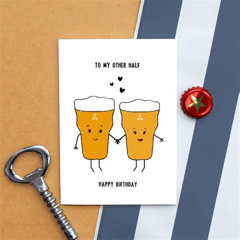 Beer Card Birthday Card Funny Card Beer Card for Him | Etsy