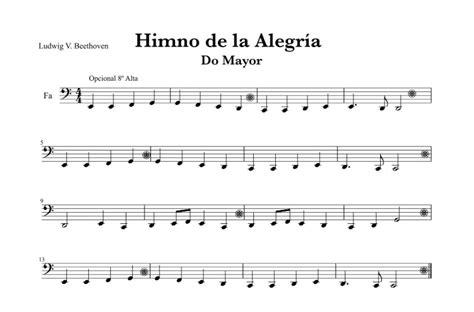 Beethoven   Himno de la Alegría  Ode of Joy  | Partituras ...