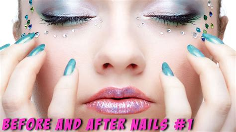Before and after Nails #1   Makeup transformation   YouTube