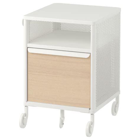 BEKANT Almacenaje c/ruedas   rejilla blanco   IKEA