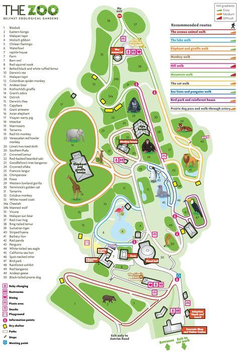 Belfast Zoo map