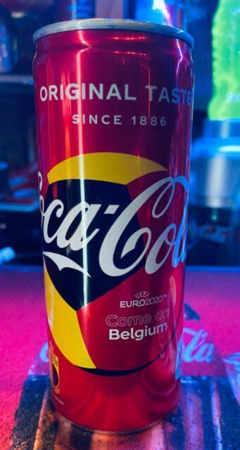BELGIUM Coca Cola EURO 2020 sleek single 250ml cans boîtes ...