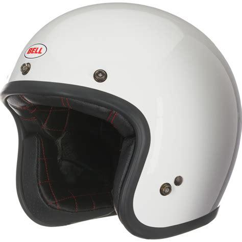 Bell Custom 500 White Motorcycle Helmet Scooter Jet ...