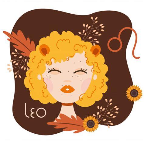 Belle Femme Avec Illustration De Signe Du Zodiaque Leo ...