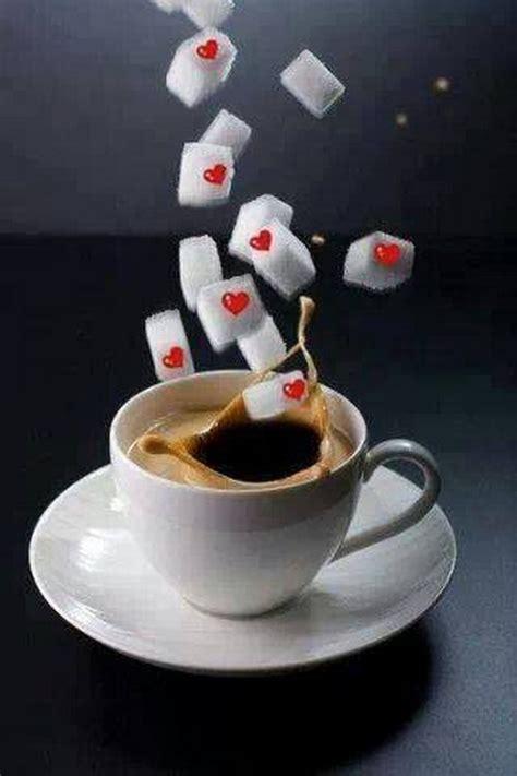 belle image de café avec sucre et coeur | ️coffee️ ...