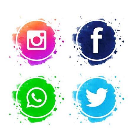 Belo conjunto de ícones de mídias sociais vector ...