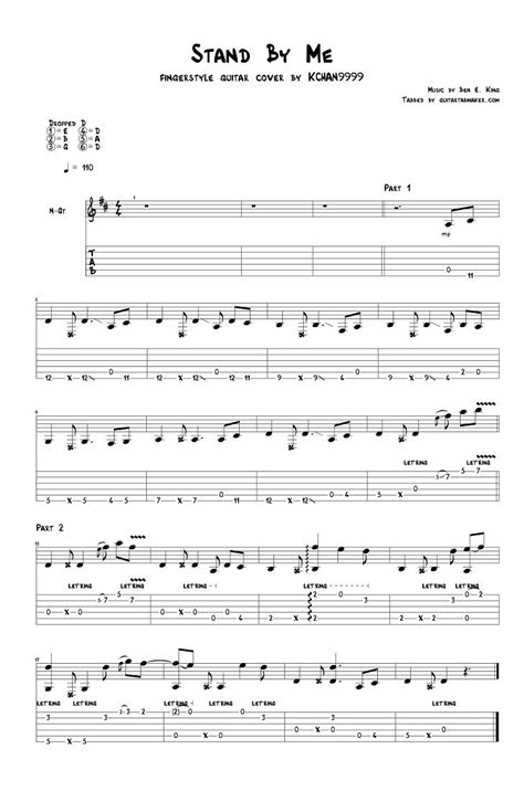 Ben E. King   Stand By Me fingerstyle guitar tab   pdf ...