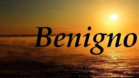 Benigno, significado y origen del nombre   YouTube