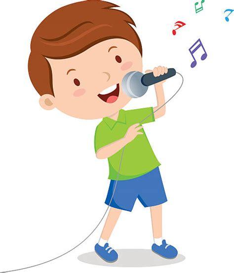 Best Boy Singing Illustrations, Royalty Free Vector ...