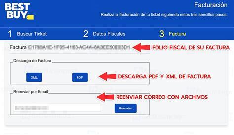 Best Buy   Facturación Electrónica Facturar Ticket