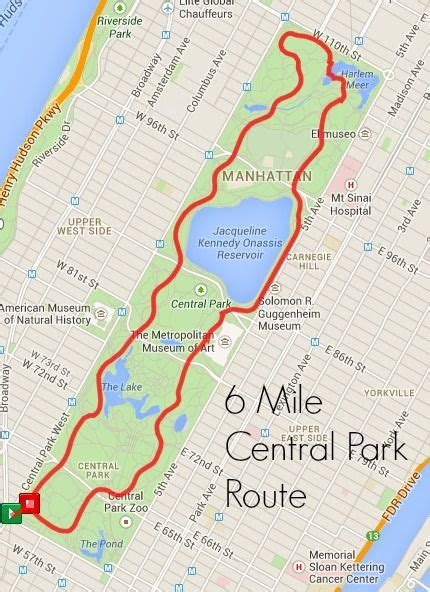 Best Central Park Running Routes   Running   Central park ...