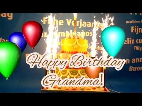 Best Happy Birthday Song for Grandma!   YouTube