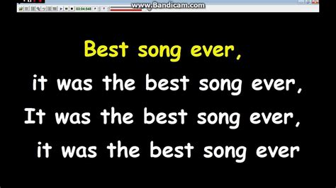 Best song ever  Lyrics+Karaoke  One Direction   YouTube