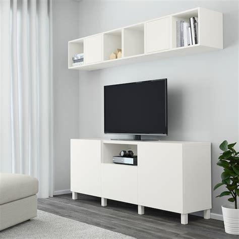 BESTÅ / EKET Mueble TV y armario, blanco, 70 x210 cm,   IKEA