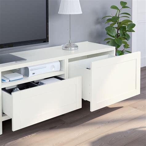 BESTÅ Mueble de TV con almacenaje   blanco/Hanviken ...