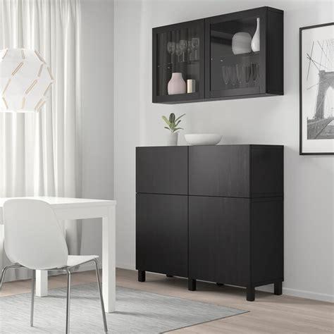 BESTÅ Mueble salón   negro marrón, Lappviken/Stubbarp ...