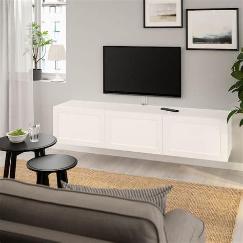 BESTÅ Mueble TV   blanco, Hanviken blanco   IKEA