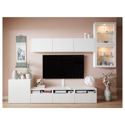 BESTÅ Mueble TV con almacenaje y puertas   blanco ...