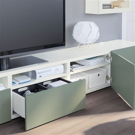 BESTÅ Mueble TV puertas vidrio   blanco Lappviken ...
